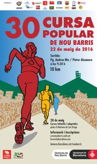 Cartell Cursa Nou Barris 2016
